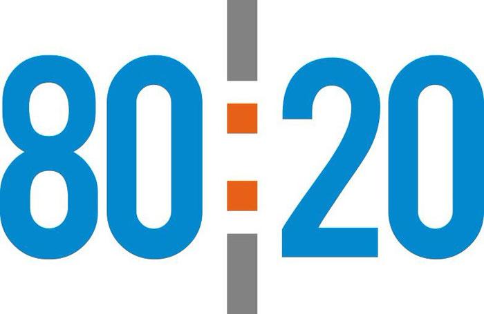El 80/20 también afecta la programación