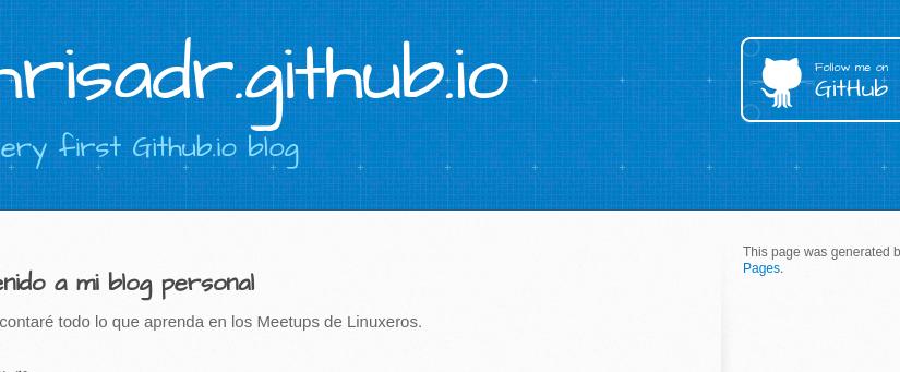Creando tu blog personal con Github Pages