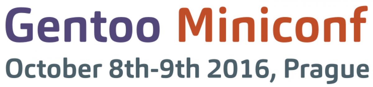 Gentoo Miniconf 2016